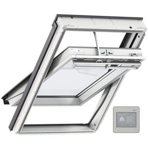 Mit dem VELUX Integra-Fenster und der zugehörigen Luftqualitätssteuerung können Sie voll automatisiert lüften.